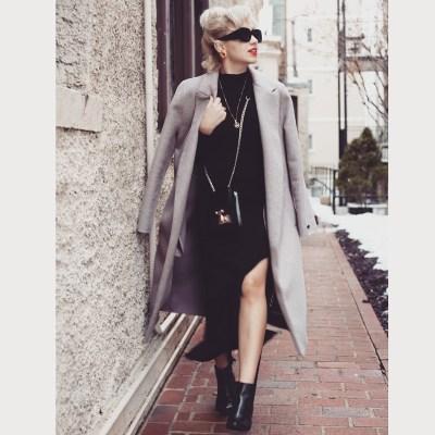 Angelica Ferrer no Inverno em Washington DC