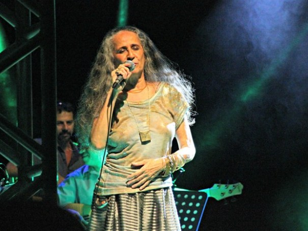A cantora Maria Bethânia (Foto: Camila Henriques/G1 AM)
