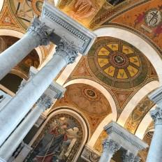 Teto da Biblioteca do Congresso estilo neo classico