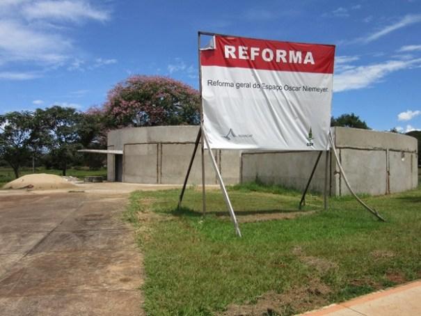 Reforma do Espaço Cultural Oscar Niemeyer (Foto: Isabella Formiga/G1)