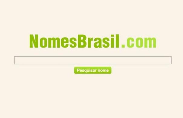 Ministério da Justiça. Sites 'Nomes Brasil' informa CPFs de cidadãos brasileiros e situação cadastral de documentos. (Foto: Reprodução/nomesbrasil.com)