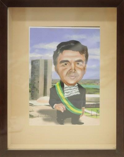 """STF realiza exposição """"Ministro Marco Aurélio Mello – 25 Anos no STF"""" - Caricatura Ministro Marco Aurélio"""