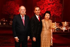 César Serra com os pais