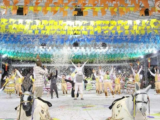 """Quadrilha """"Si bobiá a gente pimba"""" está entre as atrações da festa junina do CCBB de Brasília (Foto: União Junina Ceará/CCBB/Divulgação)"""