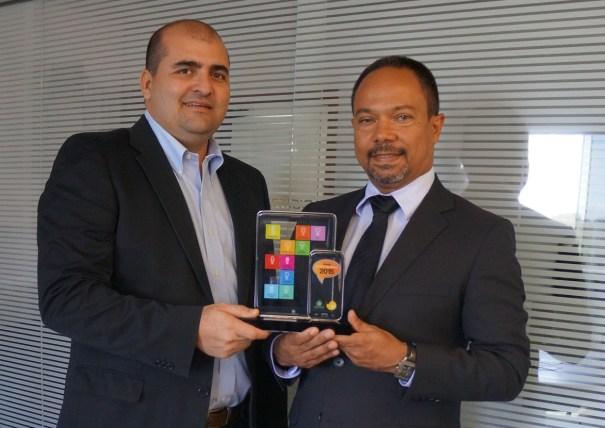 Prêmio Oi Tela Viva Móvel – Julio de La Guardia – Sócio-fundador da Digitrack (esq.) e Luiz Bispo, Diretor da Digitrack.