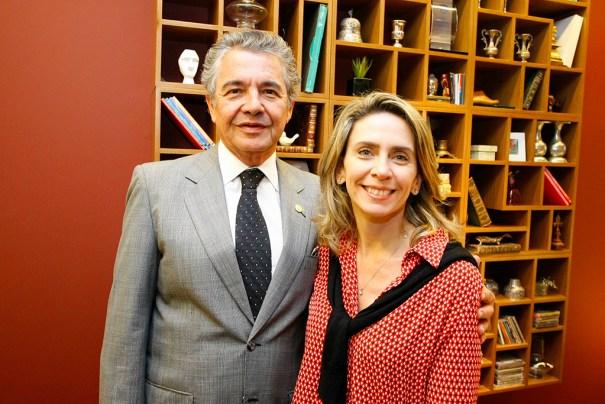 Censura. Ministro Marco Aurélio  Mello e a presidente do Instituto Palavra Aberta, Patrícia Blanco - Crédito Erivelton Viana