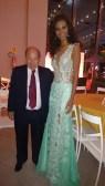 Miss DF e o pioneiro Empresário Heraldo Moll, da Buriti Imóveis