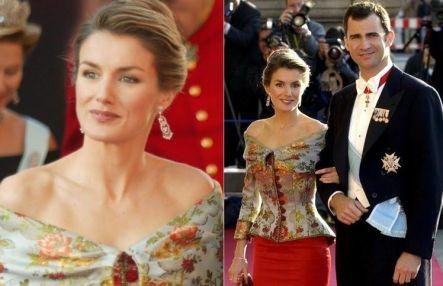 Rainha Letizia e o Rei Filipe VI da Espanha