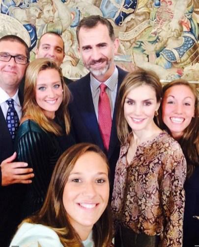 Os Reis da Espanha com a família