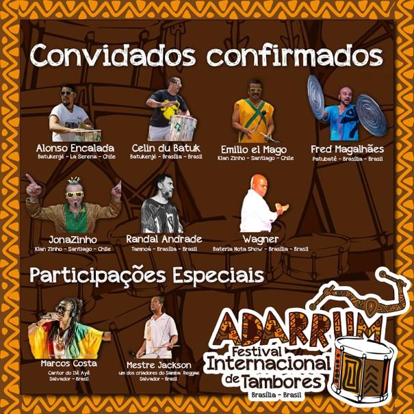 Vem aí a primeira edição do ADARRUM Festival Internacional de Tambores