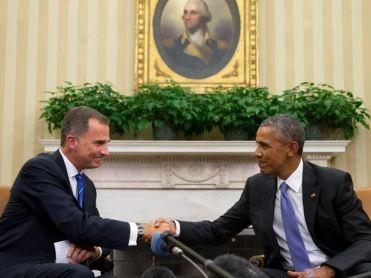 O rei Felipe da Espanha com Obama