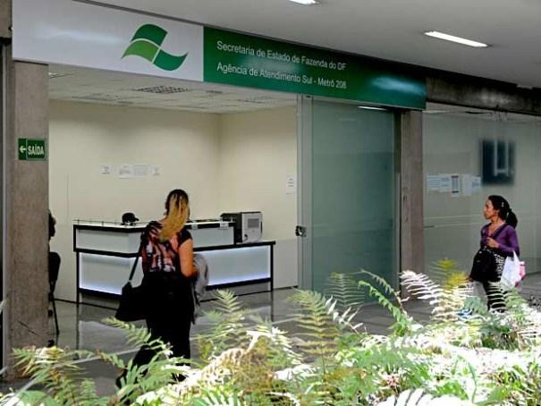 Posto da Receita do DF na 108 Sul (Foto: Gabriel Jabur/Agência Brasília)
