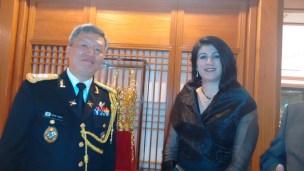 Adido Militar da Coréia do Sul e Beatriz