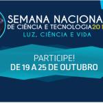 Escolas públicas participarão da Semana Nacional de Ciência e Tecnologia