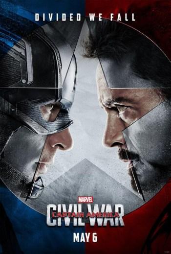 Pôster americano de 'Capitão América: Guerra civil' (Foto: Divulgação)