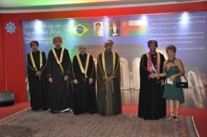 Jornalista Luzia Câmara, Embaixador de Omã, Dr. Khalid Said Salem e seus assessores