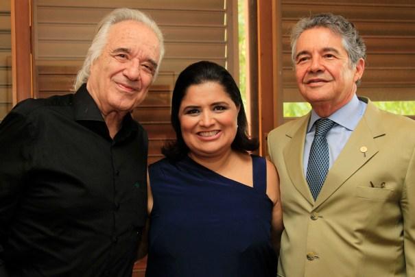 Maestro João Carlos Martins, Kátia Cubel, e ministro do STF Marco Aurélio Mello