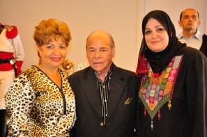 Luzia Câmara, Sr Heraldo Moll, Sra Sohair Elqataa - Foto: Alisson Carvalho