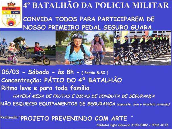 4º Batalhão da PMDF promove o 1º Passeio Ciclístico