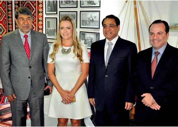 Embaixador da Palestina, Ibrahim Alzeben, Presidente da CLDF, Deputada Celina Leão, Embaixador do Kuaite, Ayadah M. A lsaidi, Presidente da Câmara de Comércio Árabe, Marcelo Nabih Sallum
