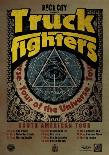 Banda sueca Truckfighters em turnê pelo Brasil