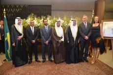 Embaixador do Estado de Kuwait, Ayadah M. Alsaidi, Embaixador para África e Oriente Médio, Fernando José Marroni de Abreu, e Senhora