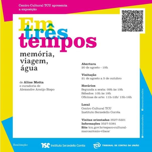 """Exposição """"EM TRÊS TEMPOS: memória, viagem e água"""" - Foto: Aline Motta"""