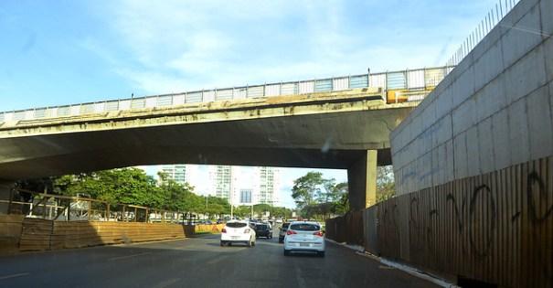 Trânsito por baixo do viaduto da EPTG/EPCT será totalmente interditado neste sábado (21/09) - Foto: Joel Rodrigues - Agência Brasília