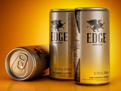 Embalagem inovadora de Edge Energy Drink chega ao mercado