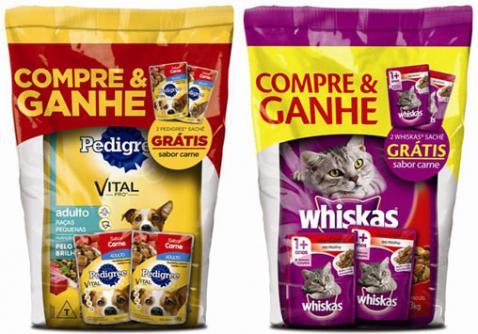 Pedigree e Whiskas lançam packs promocionais para incentivar o consumo de alimentos úmidos