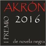 premio AKRON novela negra