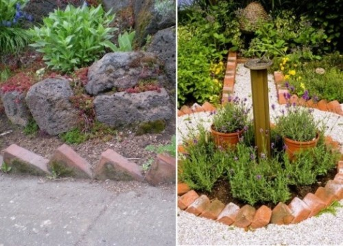 Muretti Da Giardino In Mattoni : Idee per utilizzare i mattoni in giardino guida giardino