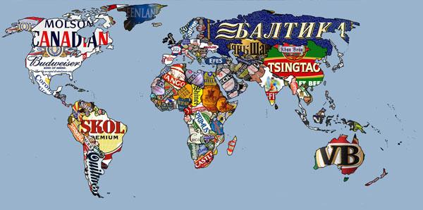 Colección de mapamundis muy peculiares - world-beer-map1