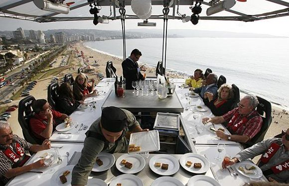 Dinner in the sky, el restaurante del cielo