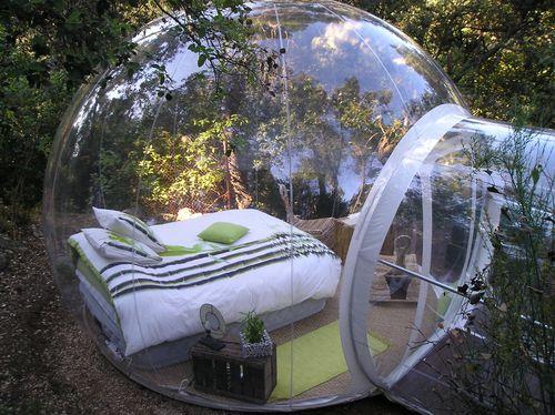 Otro hotel particular: duerme en una burbuja en Francia
