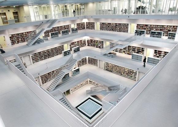 5 de las más bonitas bibliotecas de todo el mundo - Overview-at-Modern-Stuttgart-City-Library-by-Eun-Young-Yi1