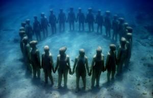 Esculturas submarinas en el Caribe - Jason-de-Caires-Taylor-300x193