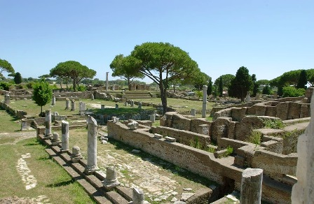 La antigua ciudad de Ostia (Roma)