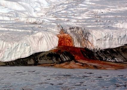 Las Cataratas de Sangre de la Antártida