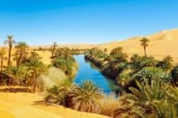 El mar de arena de Ubari (Libia) - der-see-umm-al-ma-in-der-sahara-liegt-im-oasengebiet-ubari-im-suedwesten-von-lybien-und-bietet-deutlich-bessere-lebensbedingungen-300x200