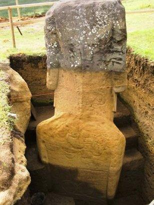 El cuerpo de los moai