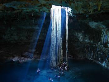 El cenote Labnaha