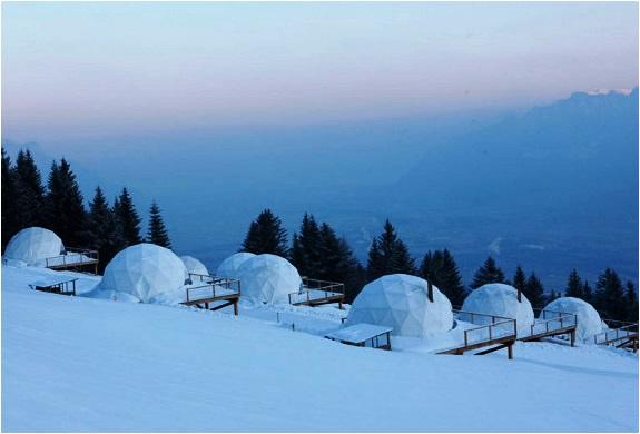 Whitepod: Glamping en la nieve
