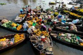 El mercado flotante de Cai Rang - Cai-Rang-Floating-Market-300x200