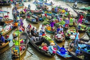 El mercado flotante de Cai Rang - CaiRang22160317PM-300x200