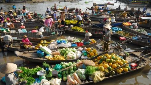 El mercado flotante de Cai Rang