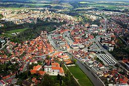 Třebíč (República Checa) - Letecký_pohled_na_centrum_Třebíče_od_severozápadu