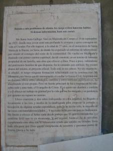 La Catedral de Justo - Carta aclaratoria de Justo a los visitantes de la obra.