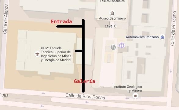 Plano de la Mina de Ríos Rosas.