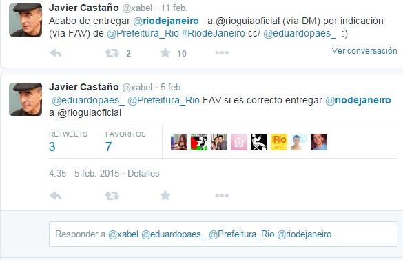 El Limpiabotas del Café Central - Entrega de la cuenta @riodejaneiro al Alcalde de Río.